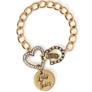 Juicy Couture Gold Lucky Horseshoe Charm Bracelet